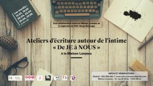 """Atelier d'écriture"""" De JE à NOUS """""""