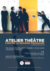 Atelier Théâtre Contre le sexisme ordinaire @ PAC Salle Polyvalente | Verviers | Wallonie | Belgique